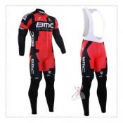 Officielle Tenue Maillot Cyclisme Longue + Collant à Bretelles BMC