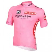 Original Maillot Cyclisme Manche Courte Giro D'Italie Rose 2016