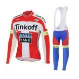 Original Tenue Maillot Cyclisme Longue + Collant à Bretelles TINKOFF SAXO BANK 5