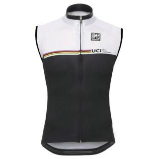 Prix 2017 Santini UCI Rainbow Line Blanc Maillot Sans Manches