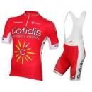 Prix Equipement 2016 Tenue Maillot Cyclisme Courte + Cuissard à Bretelles Equipe Cofidis