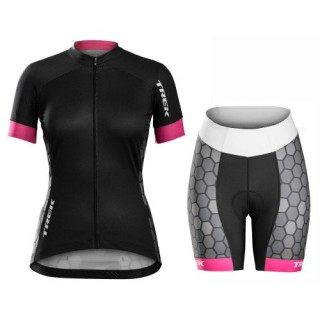 Prix Equipement 2017 Tenue Maillot Cyclisme Courte + Cuissard à Bretelles Bontrager Trek Anara Honeycomb Femme