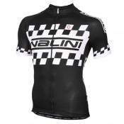 Prix Maillot Cyclisme Manche Courte Nalini Noir-Blanc Racing-Flag 2016