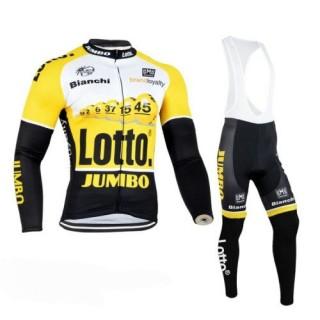 Prix Tenue Maillot Cyclisme Courte + Cuissard à Bretelles LOTTO Jaune