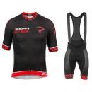 Promotions Equipement 2017 Pinarello Dogma F8 Noir-Rouge Tenue Maillot Cyclisme Courte + Cuissard à Bretelles