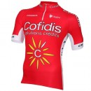 Promotions Maillot Cyclisme Manche Courte Equipe Cofidis 2016