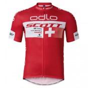 Promotions Maillot Cyclisme Manche Courte Scott ODLO Equipe Rouge 2017