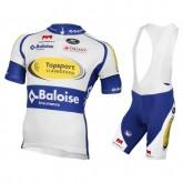 Rabais Equipement 2017 TopSport Vlaanderen-Balois Tenue Maillot Cyclisme Courte + Cuissard à Bretelles