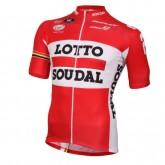 Rabais Maillot Cyclisme Manche Courte Lotto Soudal Rouge 2017