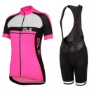 Site Equipement 2017 Ale Plus Femme Rose Tenue Maillot Cyclisme Courte + Cuissard à Bretelles