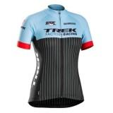 Site Maillot Cyclisme Manche Courte Trek Factory Racing Bleu Femme 2017
