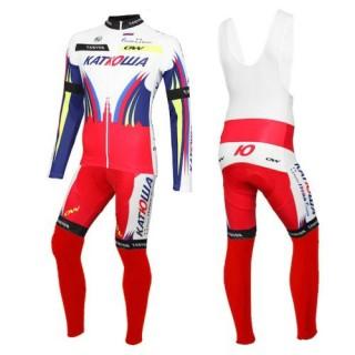 Site Officiel Tenue Maillot Cyclisme Longue + Collant à Bretelles Equipe Katusha 2016 Prix