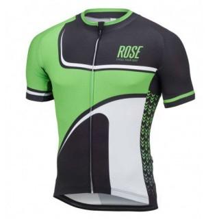Solde Maillot Cyclisme Manche Courte Rose Retro Noir-vert 2017