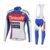Solde Tenue Maillot Cyclisme Longue + Collant à Bretelles TINKOFF SAXO BANK 3
