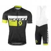 Soldes Equipement 2017 Scott RC Noir-Jaune Tenue Maillot Cyclisme Courte + Cuissard à Bretelles