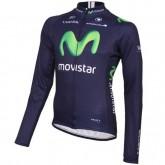 Soldes Maillot de Cyclisme Manche Longue Equipe Movistar 2016
