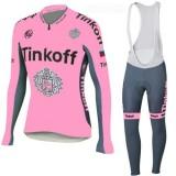 TINKOFF Tenue Maillot Cyclisme Longue + Collant à Bretelles Rose Site Officiel France