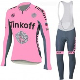 TINKOFF Tenue Maillot Cyclisme Longue + Collant à Bretelles Rose Site Officiel France
