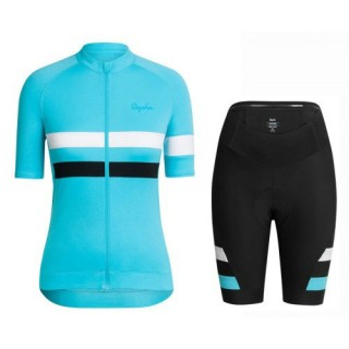 Tenue Maillot Cyclisme Courte + Cuissard Cycliste Equipe Sky Bleu Femme 2017 Réduction