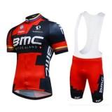 Tenue Maillot Cyclisme Courte + Cuissard à Bretelles BMC Racing Equipe 2016 2 Promos Code