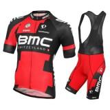 Tenue Maillot Cyclisme Courte + Cuissard à Bretelles BMC Racing Equipe 2016 Prix En Gros