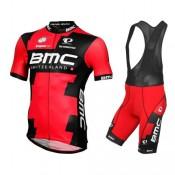 Tenue Maillot Cyclisme Courte + Cuissard à Bretelles BMC Racing Equipe Pro LTD 2017 Réduction