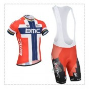 Tenue Maillot Cyclisme Courte + Cuissard à Bretelles BMC Racing Equipe Soldes France