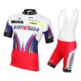 Tenue Maillot Cyclisme Courte + Cuissard à Bretelles Equipe Katusha 2016 Paris