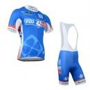 Tenue Maillot Cyclisme Courte + Cuissard à Bretelles FDJ.FR 3 Promo Prix Paris