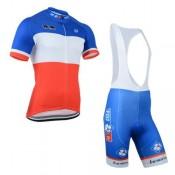 Tenue Maillot Cyclisme Courte + Cuissard à Bretelles FDJ.FR Soldes Marseille