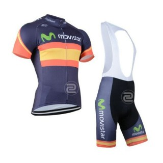 Tenue Maillot Cyclisme Courte + Cuissard à Bretelles Movistar Boutique En Ligne