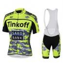 Tenue Maillot Cyclisme Courte + Cuissard à Bretelles Tinkoff Saxo Bank Paris Boutique