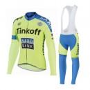 Tenue Maillot Cyclisme Longue + Collant à Bretelles TINKOFF SAXO BANK 6 Pas Cher Provence