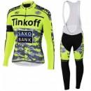Tenue Maillot Cyclisme Longue + Collant à Bretelles TINKOFF SAXO BANK 8 Remise Paris en ligne