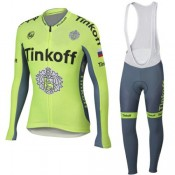 Tenue Maillot Cyclisme Longue + Collant à Bretelles Tinkoff 15 France Métropolitaine
