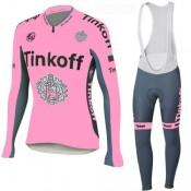 Tenue Maillot Cyclisme Longue + Collant à Bretelles Tinkoff 17 Vendre Provence