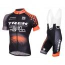 Vente Equipement 2017 Tenue Maillot Cyclisme Courte + Cuissard à Bretelles Trek Selle San Marco