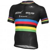 Vente Maillot Cyclisme Manche Courte Etixx Quick-Step Champion du monde 2016