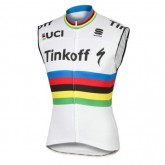 Vente Nouveau 2017 Tinkoff Race Equipe World Champion Maillot Sans Manches