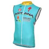 Vente Privée 2017 Astana Equipe Pro Maillot Sans Manches