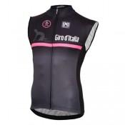 Vente Privée 2017 Giro D'Italie Noir-Rose Maillot Sans Manches