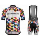 Vente Privee Equipement 2017 Tenue Maillot Cyclisme Courte + Cuissard à Bretelles Bontrager Specter coloré