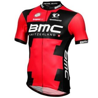 Vente Privee Maillot Cyclisme Manche Courte BMC Racing Equipe Pro LTD 2017