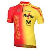 Vente Privee Maillot Cyclisme Manche Courte Espagne Equipe 2016