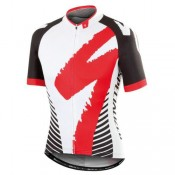 Vente Privee Maillot Cyclisme Manche Courte SPED Equipe LS Blanc-Rouge 2017