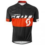 Vente Privée Maillot Cyclisme Manche Courte Scott Equipe Noir-Rouge 2016